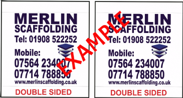 "Scaffolding Banner ""Double Sided"" (1220mm x 1220mm)"